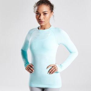 Gymshark | Seamless Long Sleeve Top Turquoise